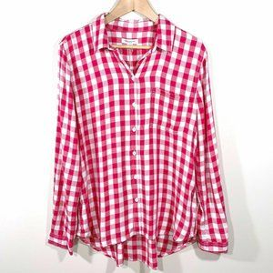NWT | beachlunchlounge | Check Button Front Shirt